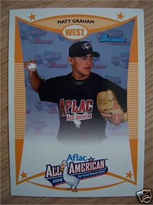 Matt Graham 2008 AFLAC Bowman Rookie Card