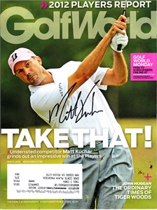 Matt Kuchar autographed 2012 Players Championship Golf World magazine