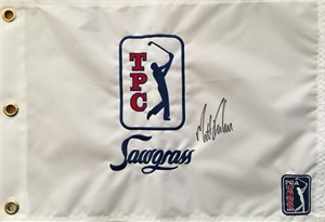 Matt Kuchar autographed TPC Sawgrass embroidered golf pin flag