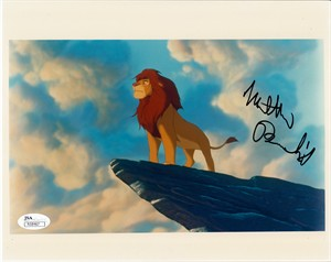 Matthew Broderick autographed Simba The Lion King 8x10 photo (JSA)