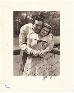 Max Baer autographed 8x10 vintage sepia photo inscribed and dated 1942 (JSA)