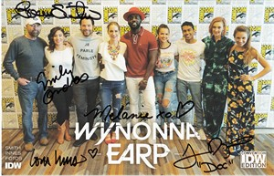 Melanie Scrofano and Tim Rozon autographed Wynonna Earp 2018 Comic-Con exclusive comic book #1