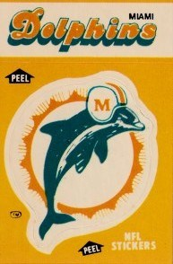 Miami Dolphins 1981 Fleer & 1984 Fleer mini sticker cards