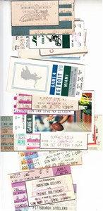 Miami Dolphins lot of 15 different Dan Marino era 1985 to 1996 ticket stubs