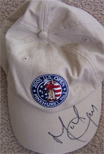 Michael Campbell autographed 2005 U.S. Open golf cap or hat
