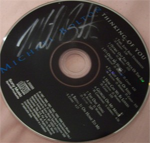 Michael Bolton autographed Thinking of You CD