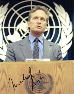 Michael Douglas autographed United Nations 8x10 photo