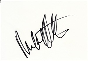 Michael Andretti autographed index card
