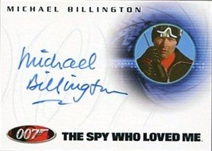 Michael Billington James Bond 007 The Spy Who Loved Me certified autograph card A43