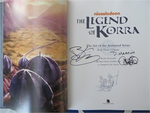 Michael DiMartino & Bryan Konietzko autographed Legend of Korra Art of the Animated Series Book Three