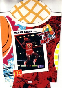 Michael Jordan Chicago Bulls 1994 McDonald's Nothing But Net MVPs french fry container