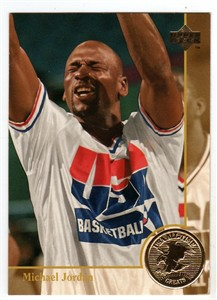 Michael Jordan 1996 Upper Deck USA Basketball All-Time Greats card