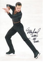 Michael Weiss autographed photo postcard