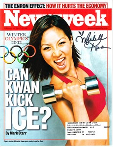 Michelle Kwan autographed 2002 Winter Olympics Preview Newsweek magazine