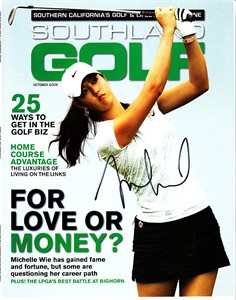Michelle Wie autographed 2006 Southland Golf magazine cover