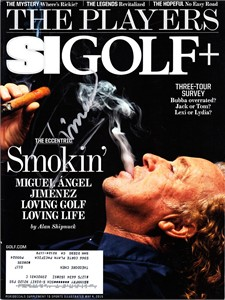 Miguel Angel Jimenez autographed 2015 Sports Illustrated SI Golf+ magazine