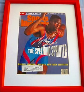 Michael Johnson autographed 1991 Sports Illustrated cover matted & framed