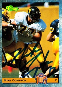 Mike Compton autographed West Virginia 1993 Classic Draft Picks card