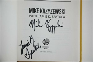 Mike (Coach K) Krzyzewski autographed The Gold Standard hardcover book