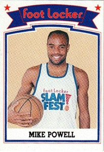 Mike Powell 1989 Foot Locker Slam Fest card