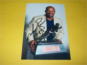 Mike Rozier autographed Heisman Trophy 4x6 photo inscribed 1983