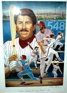 Mike Schmidt autographed Philadelphia Phillies lithograph #106/548