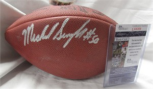 Mike Singletary autographed Wilson NFL game model football (JSA)