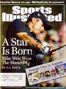 Mike Weir autographed 2003 Masters Champion Sports Illustrated