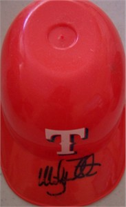 Mickey Tettleton autographed Texas Rangers mini ice cream batting helmet