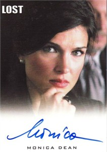 Monica Dean Lost certified autograph card