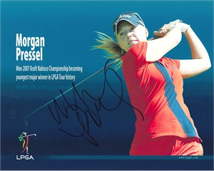 Morgan Pressel autographed LPGA 8x10 golf photo