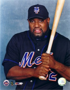 Mo Vaughn New York Mets 8x10 portrait photo