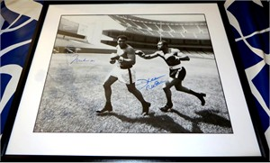 Muhammad Ali & Ken Norton autographed 16x20 poster size photo matted & framed