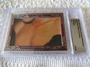 Muhammad Ali & Max Schmeling certified autograph 2012 Leaf Executive Masterpiece Dual Cut Signature card #1/1