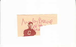 Myles Brand autograph or cut signature