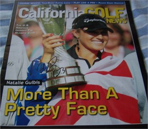 Natalie Gulbis autographed 2007 California Golf News magazine