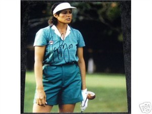 Nancy Lopez autographed 8x10 golf photo