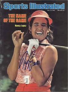Nancy Lopez autographed 1978 Sports Illustrated