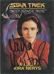 Nana Visitor autographed Star Trek Deep Space Nine Major Kira card