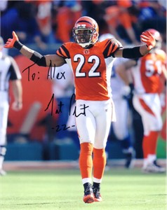 Nate Clements autographed Cincinnati Bengals 8x10 photo (To Alex)