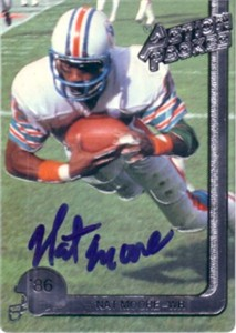 Nat Moore autographed Miami Dolphins Action Packed card