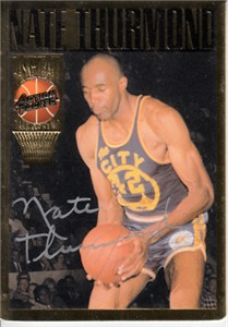 Nate Thurmond certified autograph Warriors Action Packed Hall of Fame card