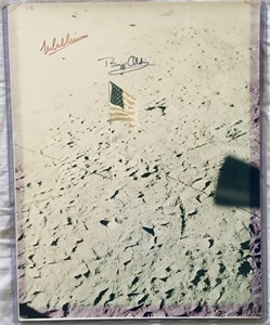 Neil Armstrong Michael Collins Buzz Aldrin autographed Apollo 11 moon landing 11x14 inch photo JSA
