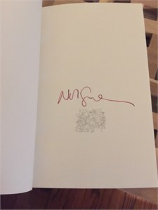 Neil Gaiman autographed Norse Mythology hardcover first edition book
