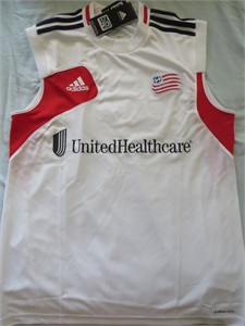 New England Revolution Adidas sleeveless MLS training jersey NEW WITH TAGS