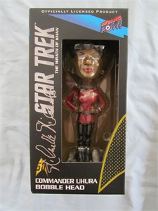 Nichelle Nichols autographed Star Trek The Wrath of Khan Uhura bobblehead doll