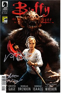 Nicholas Brendon & Christos Gage autographed Buffy the Vampire Slayer 2014 Comic-Con exclusive comic book