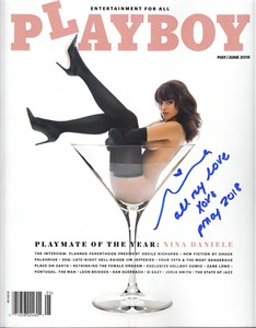 Nina Daniele autographed May/June 2018 Playboy magazine inscribed PMOY 2018