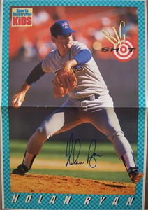 Nolan Ryan autographed Texas Rangers Sports Illustrated for Kids mini poster