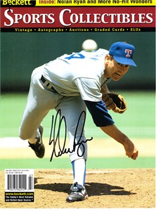Nolan Ryan autographed Texas Rangers 2001 Beckett Sports Collectibles magazine cover